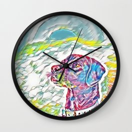 Rottweiler Pastel Rainbow Wall Clock