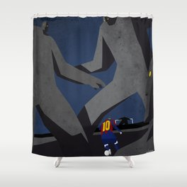 Leo and the monsters Shower Curtain