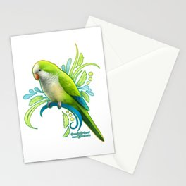 Green Quaker Parrot Stationery Cards