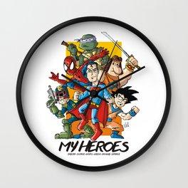My Heroes Wall Clock