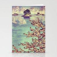 sunset Stationery Cards featuring Watching Kukuyediyo by Kijiermono