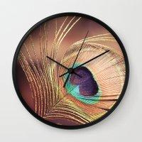 metallic Wall Clocks featuring Metallic by BURNEDINTOMYHE∆RT♥