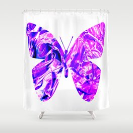 Fluid Butterfly (Violet Version) Shower Curtain