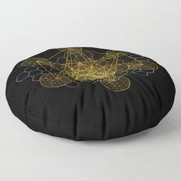 Sacred Geometry Metatrons Cube  Floor Pillow