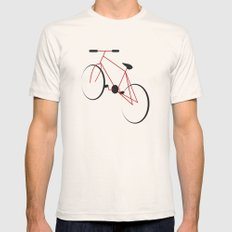 bike Mens Fitted Tee Natural LARGE