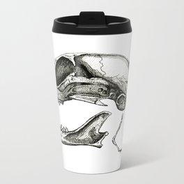 Cat Skull Metal Travel Mug