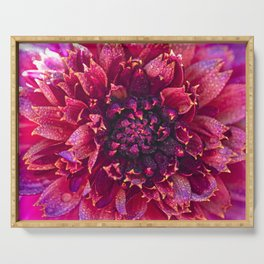 Dahlia and dew drops Serving Tray