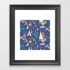 Bear camp Framed Art Print