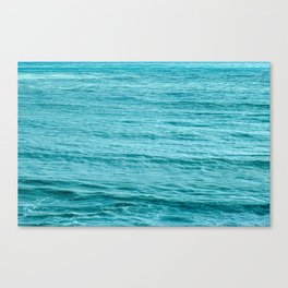 Blue Smooth Water Canvas Print