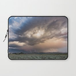 Yellowstone National Park - Sunset storm over the Washburn Range Laptop Sleeve
