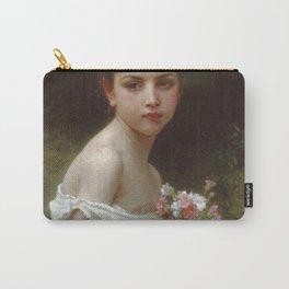 Adolphe William Bouguereau - Petite Fille Au Bouquet Carry-All Pouch