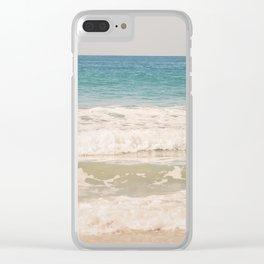 Beach Waves Clear iPhone Case