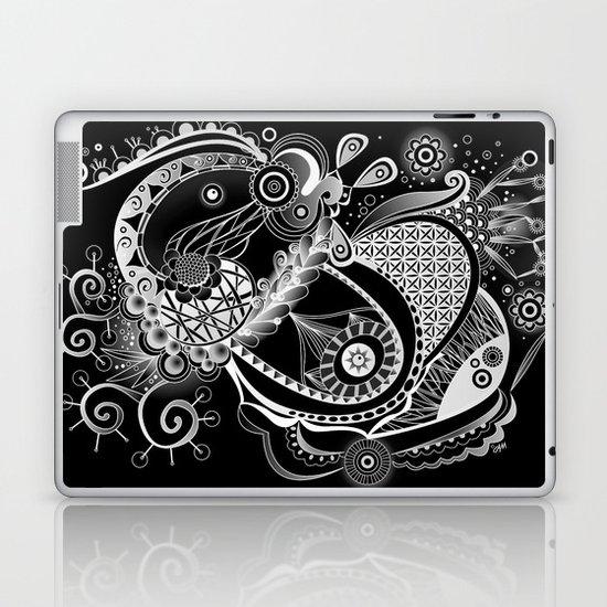 Spring tangle, black Laptop & iPad Skin
