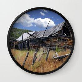 Old Barn, Trampas, New Mexico Wall Clock