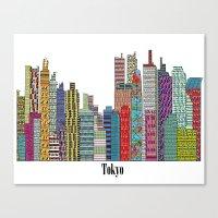 tokyo Canvas Prints featuring Tokyo by bri.buckley