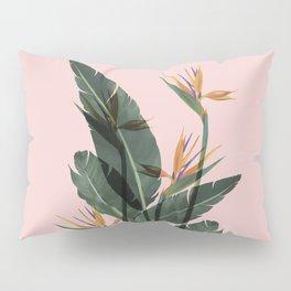 Bird of Paradise Flower Vintage Pillow Sham