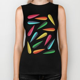 Feathers II Cascading Colors Biker Tank