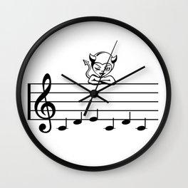 bad music Wall Clock