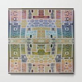 Moroccan Tile Boho Lace Geometric Metal Print