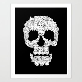 Skulls Are For Pussies Art Print