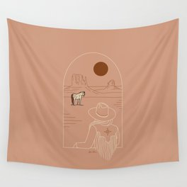 Lost Pony - Pink Clay Wall Tapestry