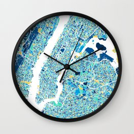 New York City Map United states full color Wall Clock