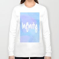 water colour Long Sleeve T-shirts featuring Water Colour Infinity  by Ladsandstuff