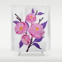 study Shower Curtains featuring Flower study by Bexelbee