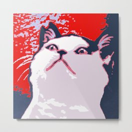 Obey the Cat Metal Print