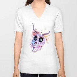 Ankou - colorful head Unisex V-Neck
