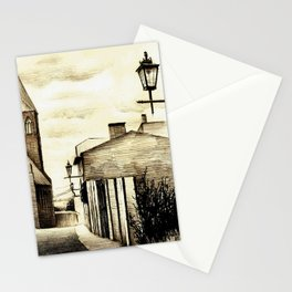 THE GOTHIC STREET IN A POLISH CITY HELMNO Stationery Cards