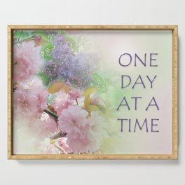 One Day at a Time Spring Flowers Serving Tray