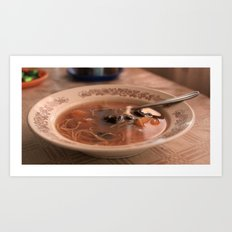 Sweet fruit soup on a dreamy afternoon Art Print
