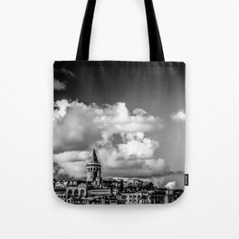 Istanbul: A Fusion of Black and White Tote Bag
