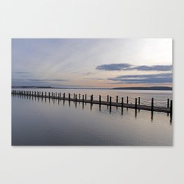 Causeway at Sunset Canvas Print