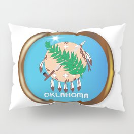 Oklahoma Proud Flag Button Pillow Sham