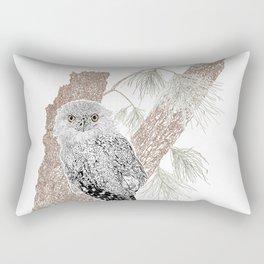 Tawny Frogmouth on Casuarina Tree Rectangular Pillow