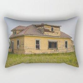The Yellow House, Arena, North Dakota 4 Rectangular Pillow