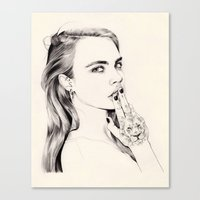 cara Canvas Prints featuring Cara by John Ryan Solis