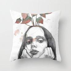 Friday nostalgia, watercolor Throw Pillow