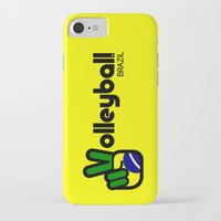 volleyball iPhone & iPod Cases featuring Volleyball Brazil by Skylar 83