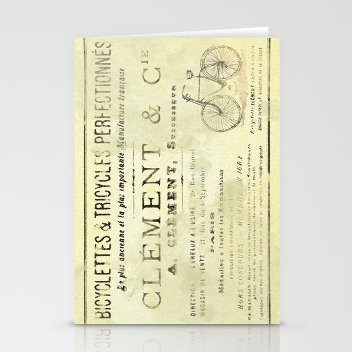 Bicyclette Stationery Cards