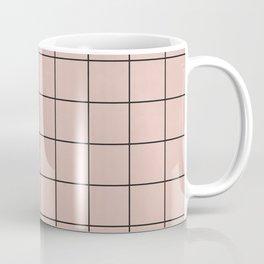 Small Grid Pattern - Pale Pink Coffee Mug