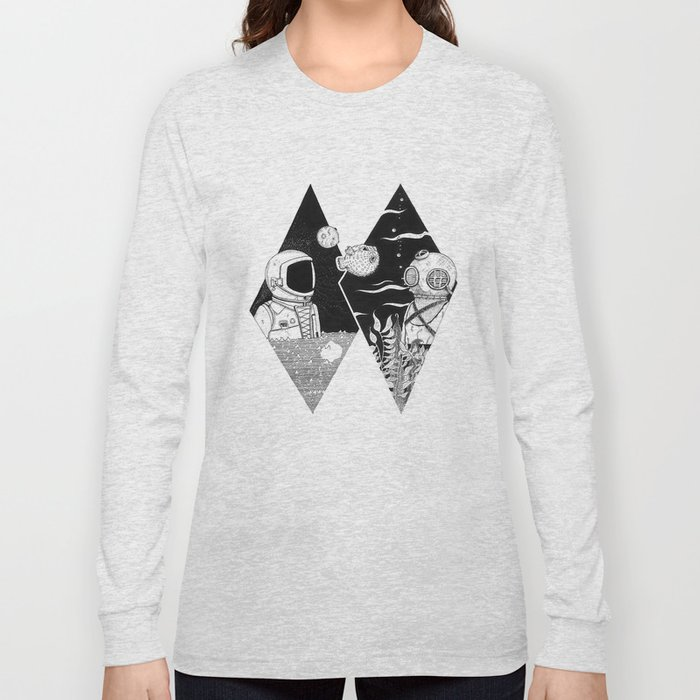 Down to Earth and Up in the Stars Long Sleeve T-shirt