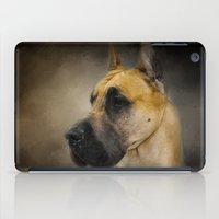 great dane iPad Cases featuring Dashing Great Dane by Jai Johnson