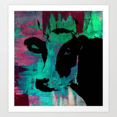 Rainbow Graphic Cow Color Painting Poster Print by Robert Erod Art Print