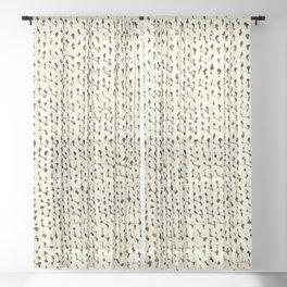 White Stockinette Sheer Curtain