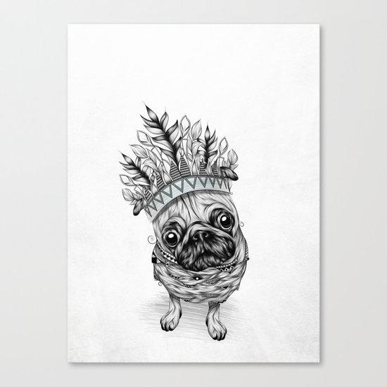Indian Pug  Canvas Print