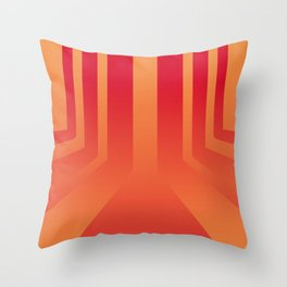 Streets on fire Throw Pillow