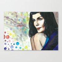 amelie Canvas Prints featuring Amelie by Jessis Kunstpunkt.